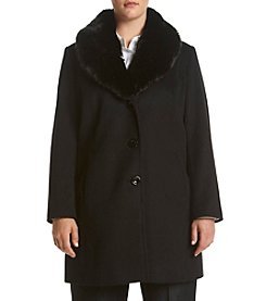 Forecaster Plus Size Faux Fur Shawl Collar Jacket