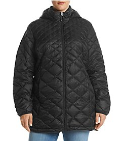 32 Degrees Plus Size Hooded Quilted Jacket
