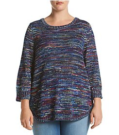 Studio Works® Plus Size Marled Sweater