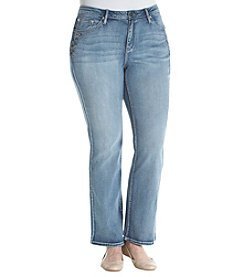 Earl Jean Plus Size Embroidered Stretch Jeans