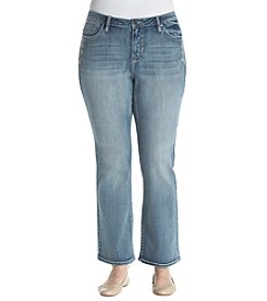 Earl Jean Plus Size Daisy Embroidered Jeans