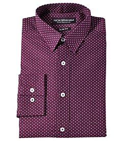 Nick Graham® Pindot Button Slim Fit Dress Shirt