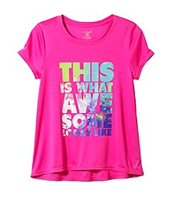 Exertek® Girl's 7-16 Short Sleeve What Awesome Looks Like Tee