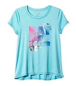 Exertek® Girl's 7-16 Short Sleeve Eat Sleep Soccer Tee