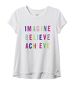 Exertek® Girls' 7-16 Short Sleeve Imagine Believe Tee