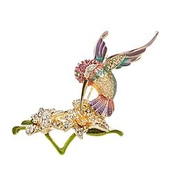 Napier® Boxed Hummingbird Flower Pin