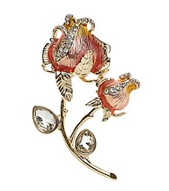 Napier® Box Rose Flower Pin
