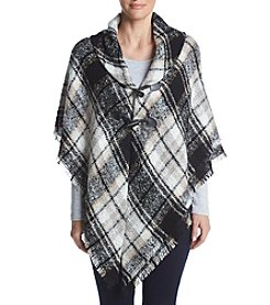 Collection 18 Fading Plaid Poncho