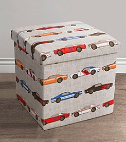 Lush Decor Race Cars Print Collapsible Ottoman