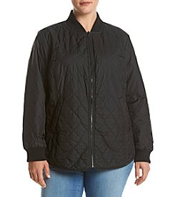 Bernardo® Plus Size Reversible Quilted Coat