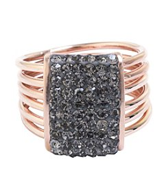 Athra Crystal Rectangle Multi Band Ring