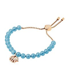 Michael Kors® Pave Logo And Blue Imitation Pearl Slider Bracelet