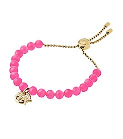 Michael Kors® Pave Logo And Pink Imitation Pearl Slider Bracelet
