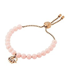 Michael Kors® Pave Logo And Blush Imitation Pearl Slider Bracelet