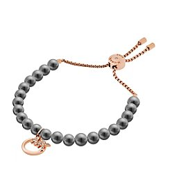 Michael Kors® Modern Classic Gray Faux Pearl And Simulated Crystal Slider Bracelet