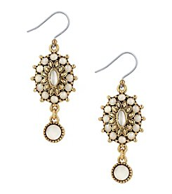 Lucky Brand® Mother Of Pearl Squash Blossom Drop Earrings