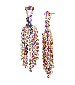 Betsey Johnson® Multi Color Graffiti Chandelier Earrings