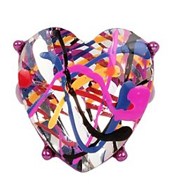 Betsey Johnson® Graffiti Heart Ring