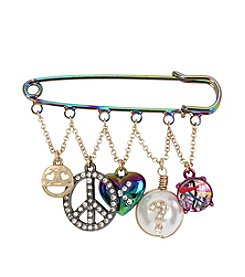 Betsey Johnson® Oil Slick Safety Pin