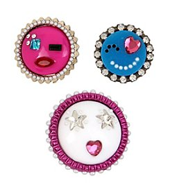 Betsey Johnson® Multiple Emoji Pin Set