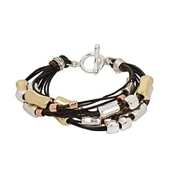 Robert Lee Morris Soho™ Leather And Metal Bracelet