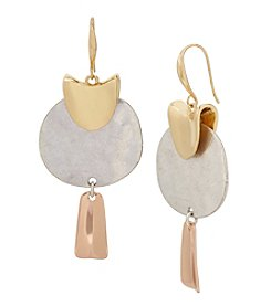 Robert Lee Morris Soho™ Tri Tone Sculptural Drop Earrings
