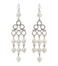 Erica Lyons® Faux Pearl Chandelier Pierced Earrings