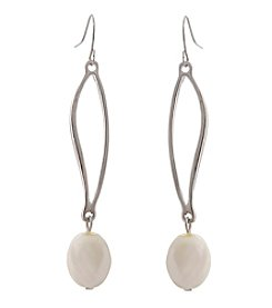 Erica Lyons® Pearl Linear Pierced Earrings