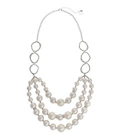Erica Lyons® Faux Pearl Triple Layered Strand Necklace