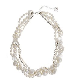 Erica Lyons® Faux Pearl Multi Strand Short Necklace