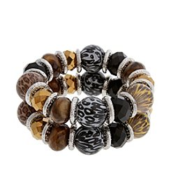 Erica Lyons® Wild Thing Two Piece Bracelet Set