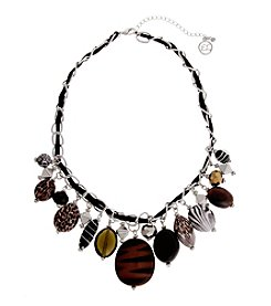 Erica Lyons® Wild Thing Shaky Front Necklace
