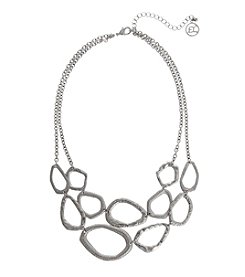 Erica Lyons® Scratch Pad 2 Row Necklace