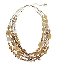 Erica Lyons® She's A Natural Short Multi Row Necklace