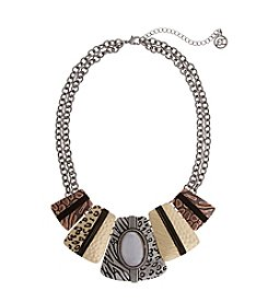 Erica Lyons® Wild Thing Rectangles Collar Necklace
