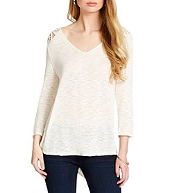Jessica Simpson Murielle Lace-Up-Back Top