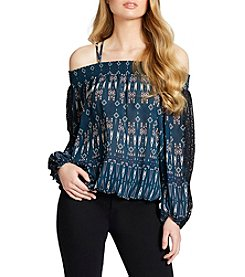 Jessica Simpson Printed Off Shoulder Top