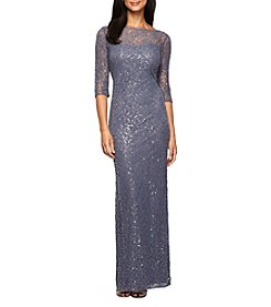 Alex Evenings® Long Column Sequin Dress