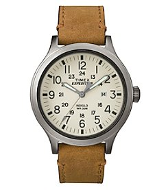 Timex® Men's Expedition® Scout 43 Leather Watch