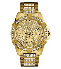 GUESS Men's Goldtone Crystal Chronograph Watch