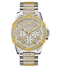 GUESS Men's Two-Tone Crystal Chronograph Watch