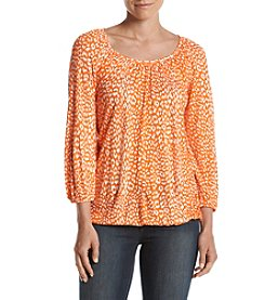 MICHAEL Michael Kors® Petites Cheetah Peasant Top