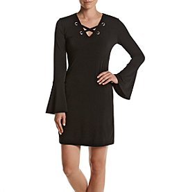 MICHAEL Michael Kors® Petites' Grommet Lacing Dress