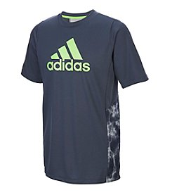 adidas® Boys' 8-20 Short Sleeve Smoke Screen Training Top