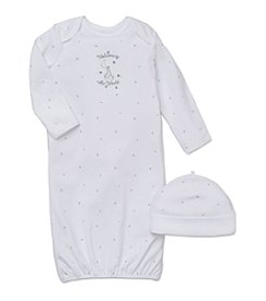 Little Me® Baby Welcome World Gown And Hat Set