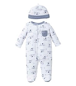 Little Me® Baby Boys' Puppy Footie And Hat Set
