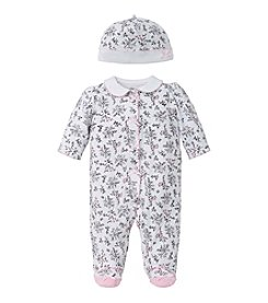 Little Me® Baby Girls' Bird Toile Footie And Hat Set