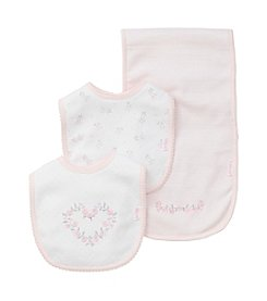 Little Me Baby Girls' Bib and Burp Set