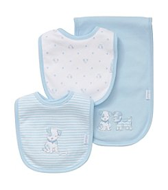 Little Me Baby Boys' Bib and Burp Set