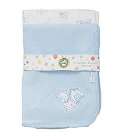 Little Me Baby Boys' 2-Pack Pup House Receiving Blankets
